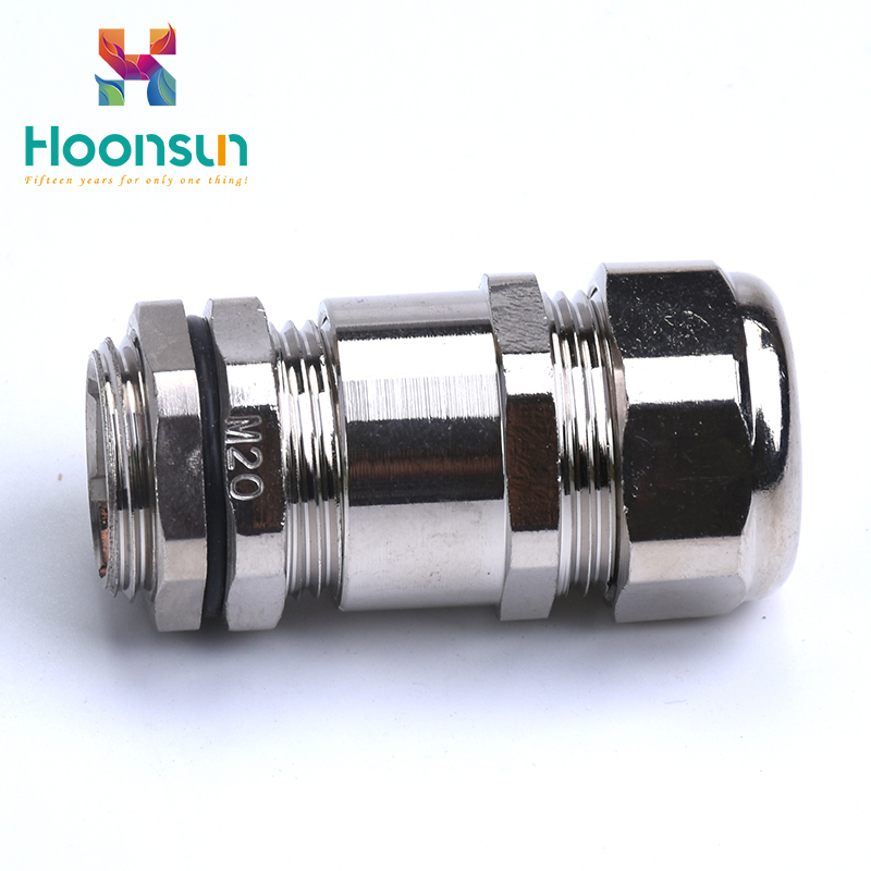 nickel plated brass gland tightened nylon hose tube connector