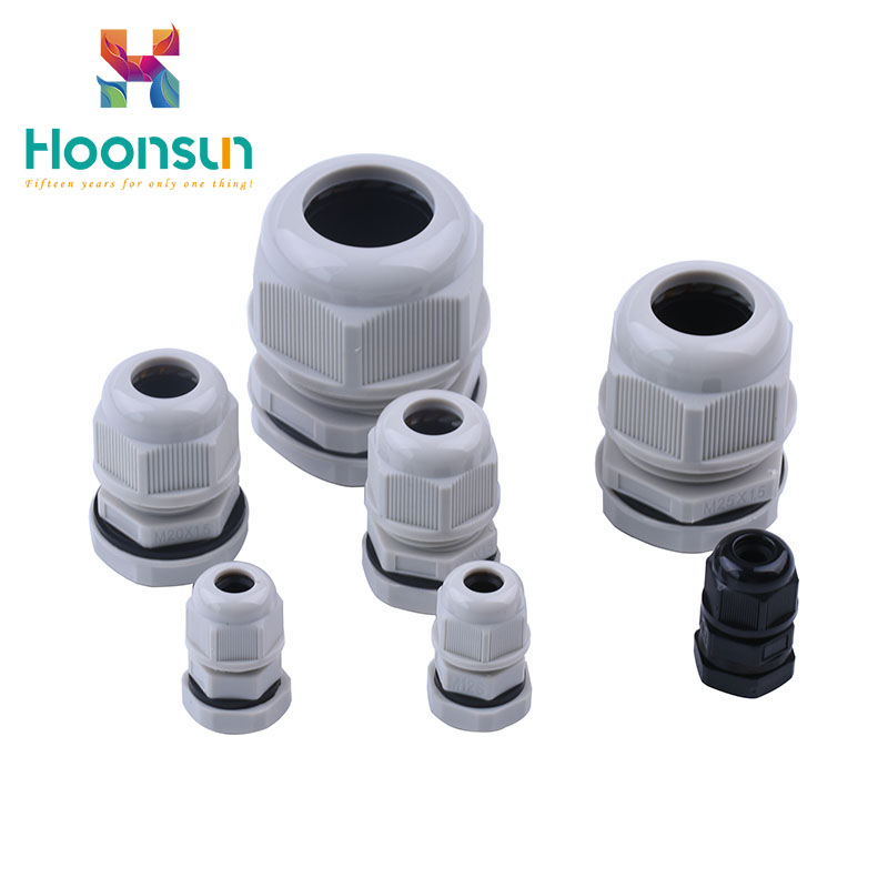 black IP68 waterproof split nylon wire cable gland